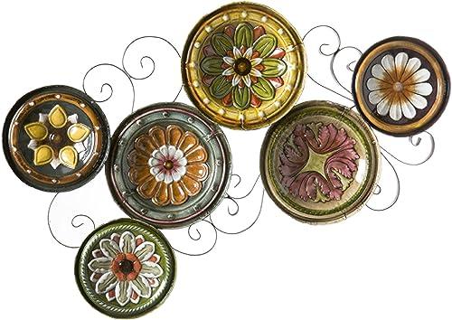 SEI Furniture Scattered Italian Plates Wall Art