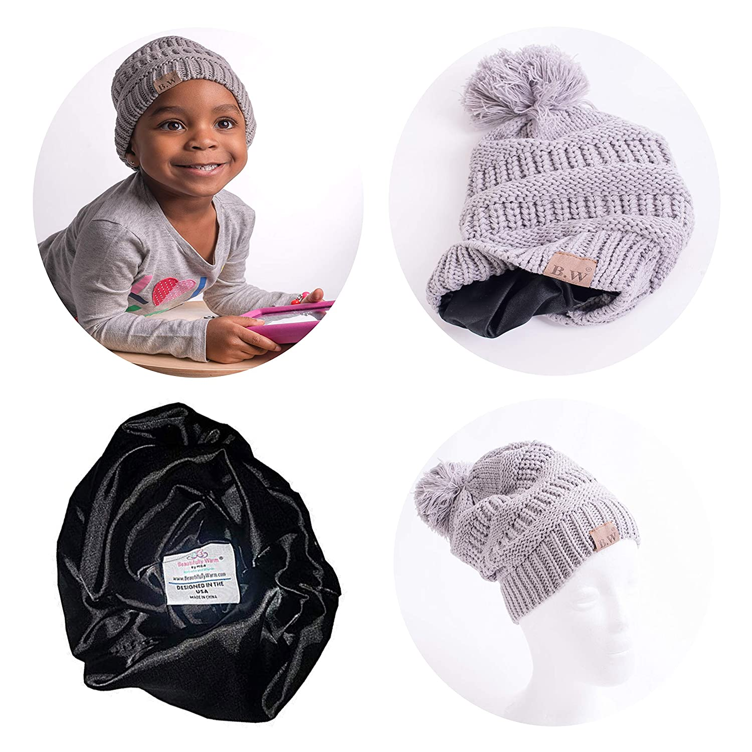 Amazon.com  Satin Lined Winter Hats for Toddlers  0940452852e