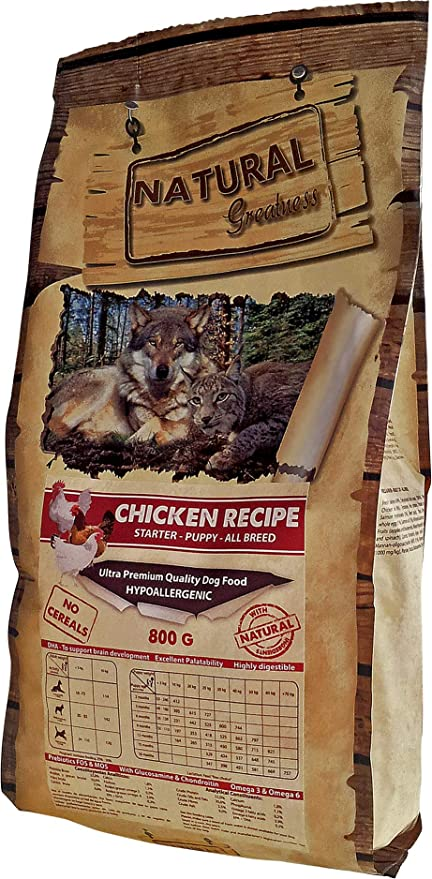 Natural Greatness Pienso seco para Perros. Receta de Pollo - Ultra ...