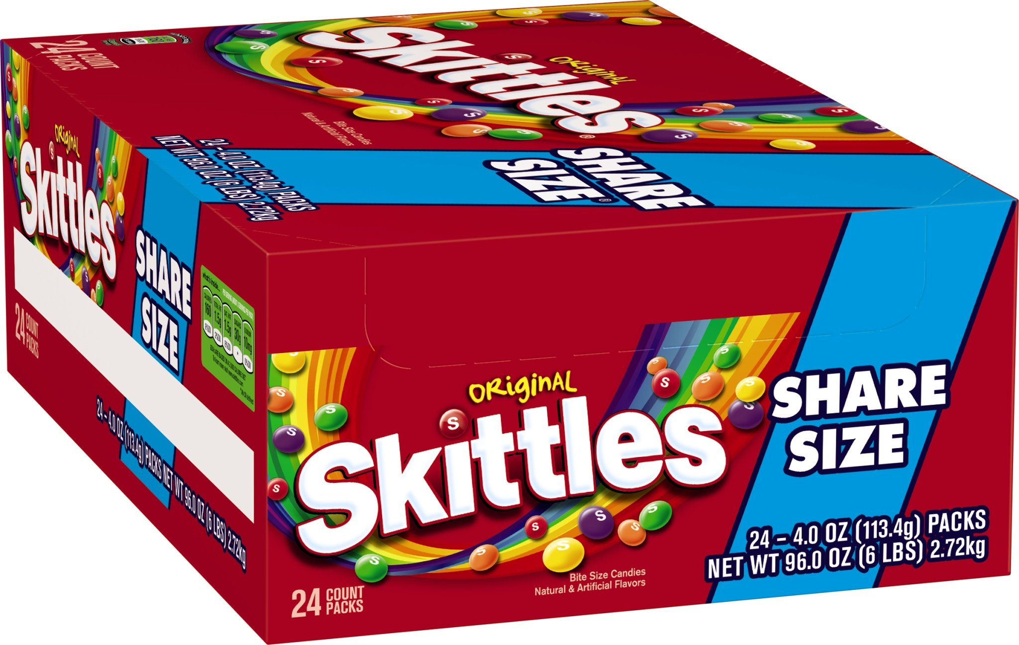 Skittles Original Tear n' Share Candy, 4-Ounce Packages (Pack of 24)