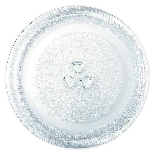 Saffire - Plato de cristal pequeño para microondas (24,5 cm ...