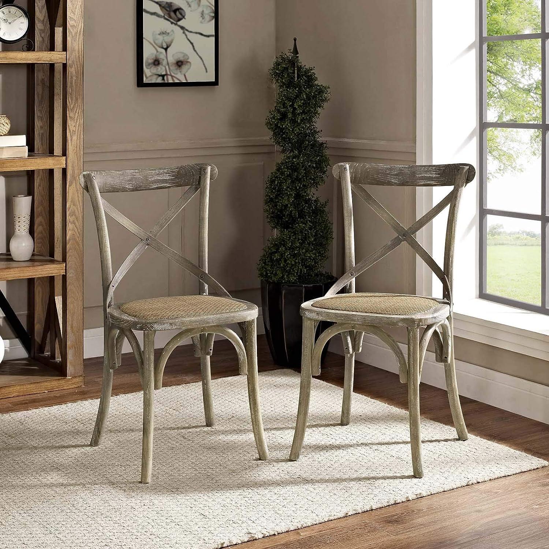 Peachy Amazon Com Modway Gear Rustic Modern Farmhouse Elm Wood Ncnpc Chair Design For Home Ncnpcorg