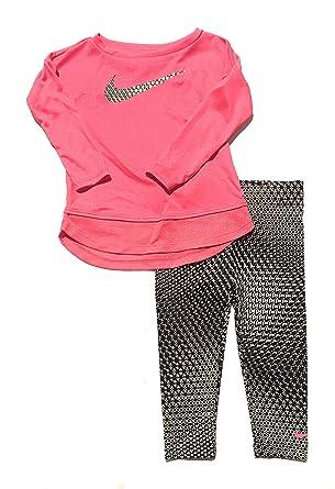 Amazon Com Nike Infant Girls Swoosh Top And Leggings Set Pink White