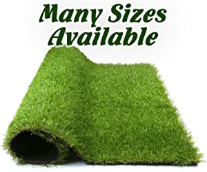Glee&Cluster Artificial Grass for Dogs Potty Synthetic Grass Runner Artificial Turf Rug Green, 3.3 ft x 13.1 ft = 43.23 Square ft (FGFG3.3X13.1ft)