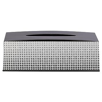 13,7 x 25,4 x 8,5 cm schwarz//wei/ß Sealskin Kosmetiktuchspender Speckles ABS