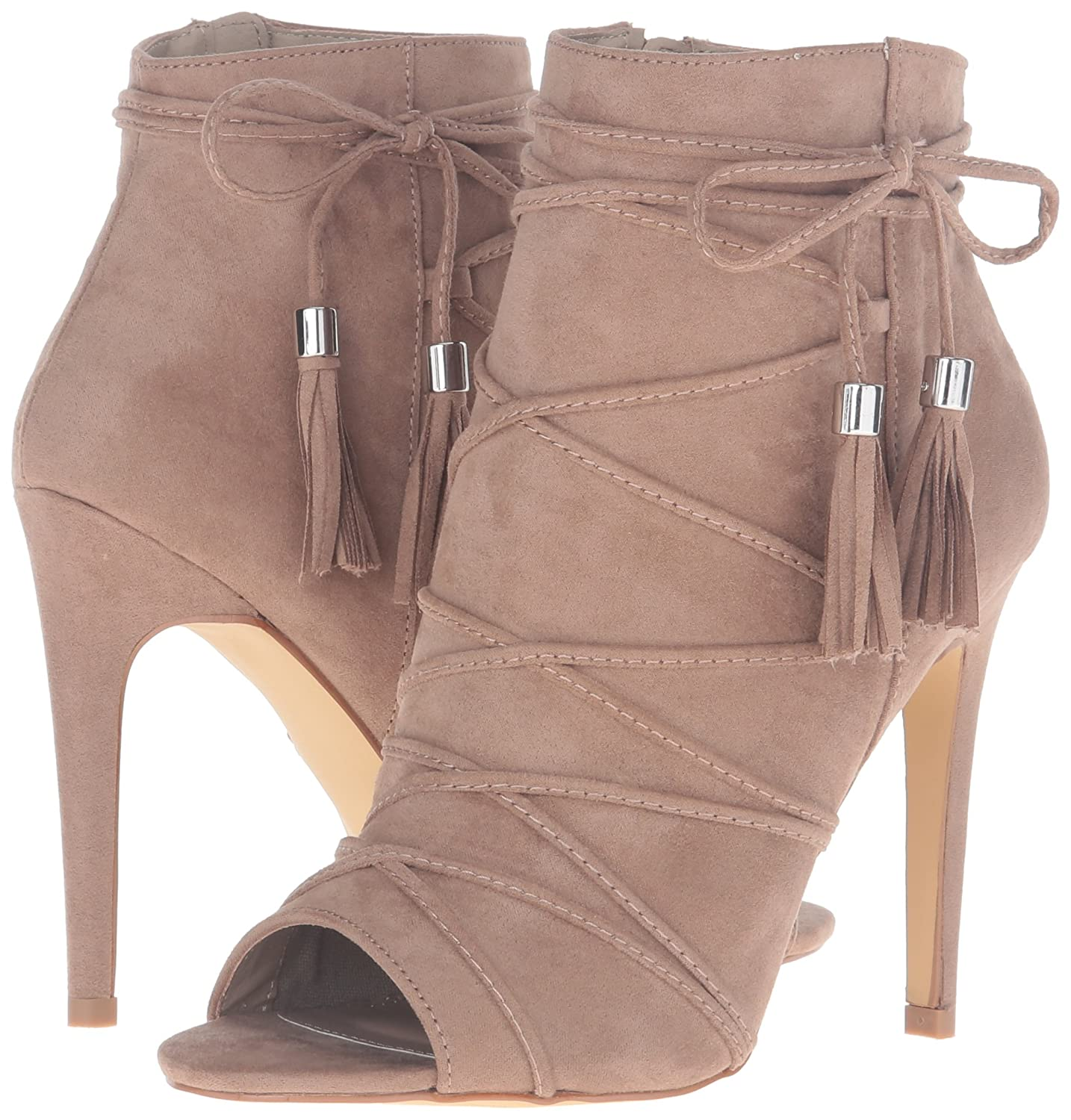 Madden Girl Women's Koorset Ankle Bootie B01E9US3F0 7.5 B(M) US Taupe Fabric