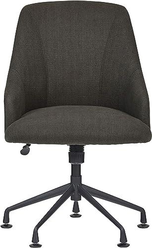 Rivet Modern Upholstered Swivel Chair, 24.4 W, Gray