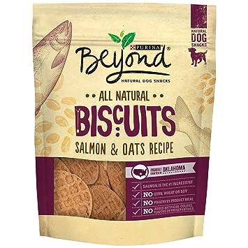 Purina Beyond - Serpiente para perro natural, galletas, salmón y harina de avena, bolsa de 9 onzas de Purina Beyond: Amazon.es: Productos para mascotas