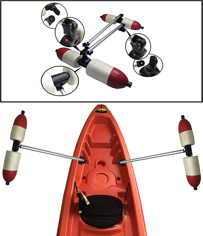 Details about  /Inflatable Kayak Stabilizer PVC Canoe Outrigger Kit Floating Balancing Boat Set