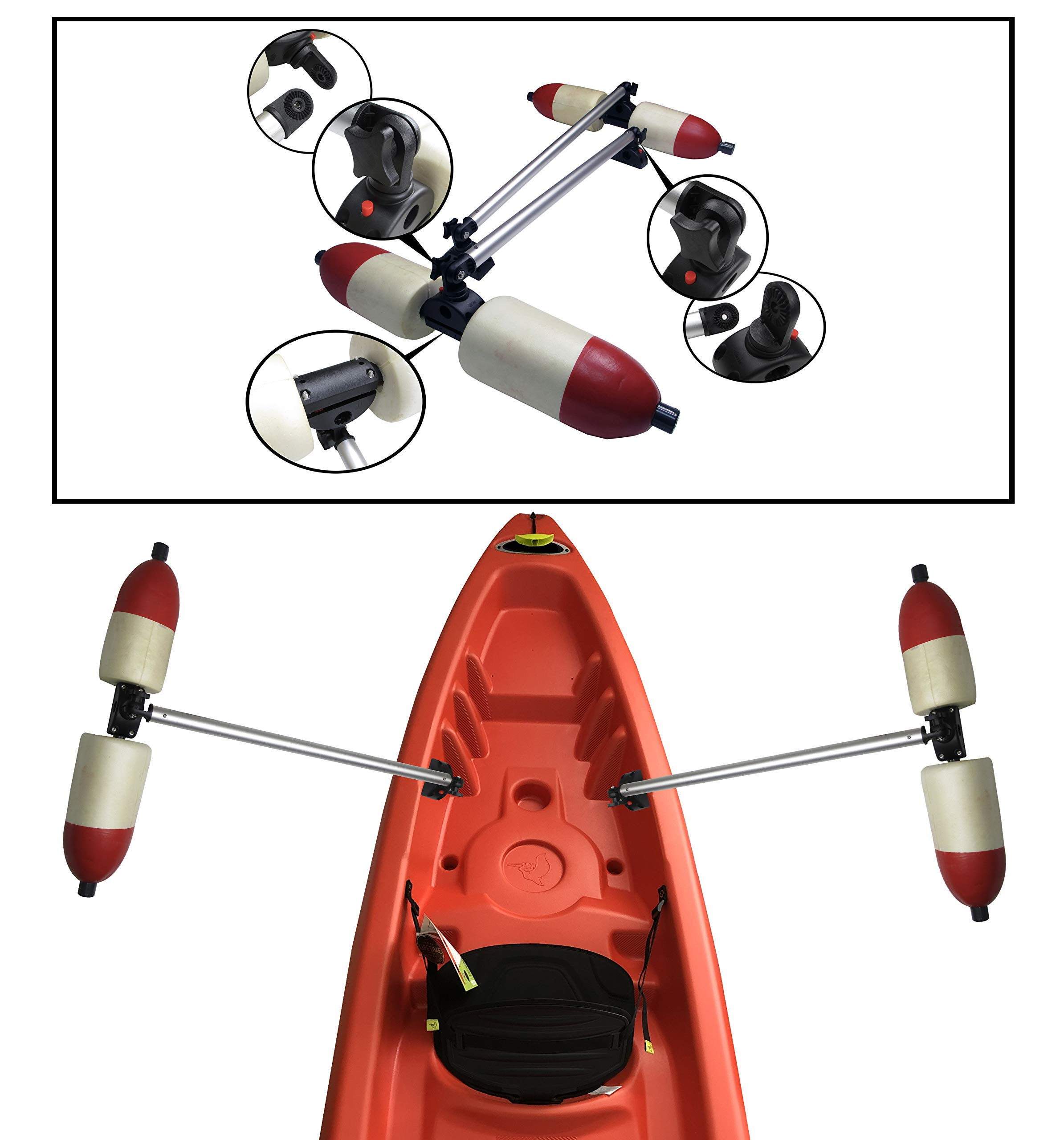 Pactrade Marine Boat Kayak Canoe PVC Outrigger Arms Stabilizer System Fishing by Pactrade Marine