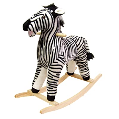 Happy Trails Zebra Plush Rocking Animal: Toys & Games [5Bkhe1007212]
