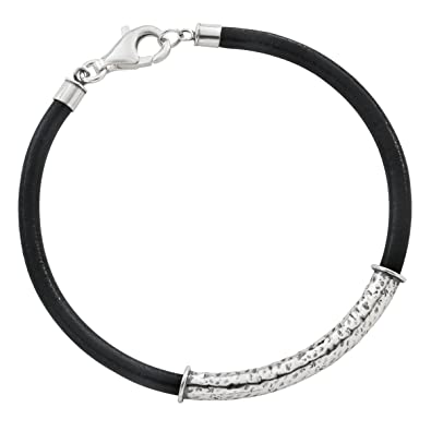 Amazon Com Silpada Blacksmith Leather And Sterling Silver