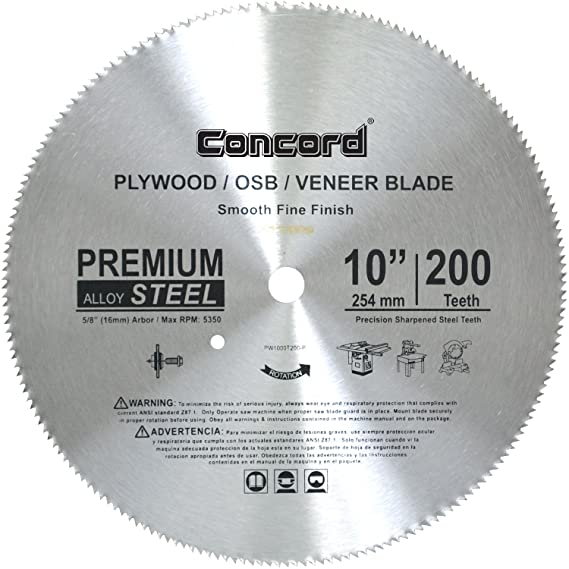 Amazon.com: Concord Cuchillas 6 – 1/2-inch 150 Dientes Tct ...