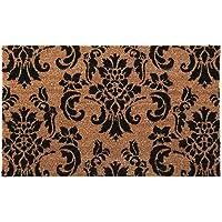 New Natural Coir Non Slip Welcome Floor Entrance Door Mat Anti Slip Indoor Outdoor Doormat (Damask)