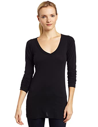 9b6f3173 LAmade Women's Fitted V-Neck Tunic Top at Amazon Women's Clothing ...