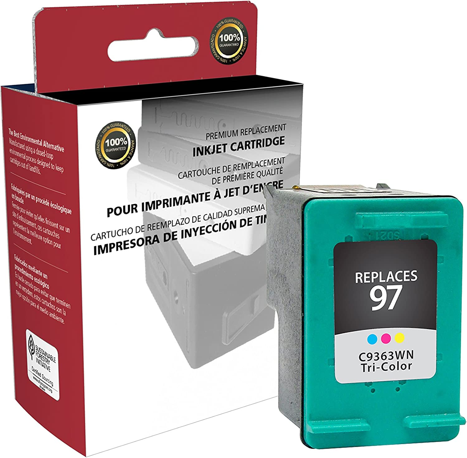 Inksters of America Remanfactured Ink Cartridge Replacement for HP 97 Tri-Color Ink Cartridge C9363WN (HP 97)