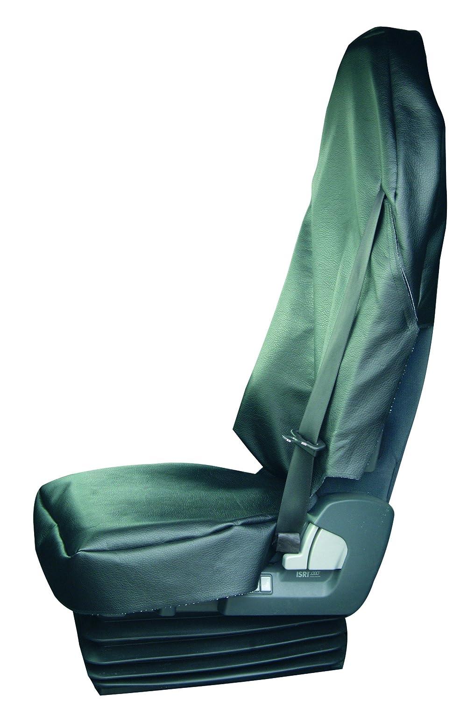 Werkstattschoner Sitzauflage Kunstleder Lkw Oder Transporter Lkw Sitzbezug Xxxl Schwarz Mit Gurtschlitz Für Den Gurt Baby