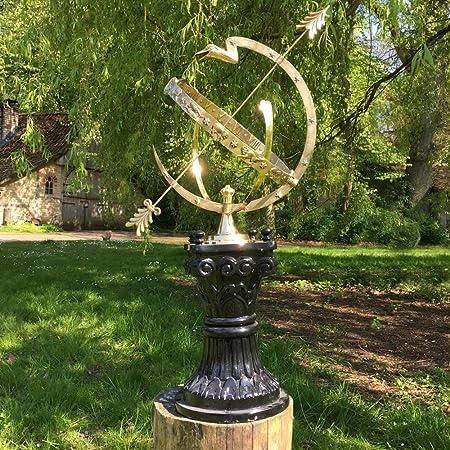 Antikas - reloj de sol grande - reloj astrológica 97 cm - decoración hora reloj jardín - relojes de sol terraza patio: Amazon.es: Hogar