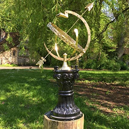 Antikas - reloj de sol grande - reloj astrológica 97 cm - decoración hora reloj jardín