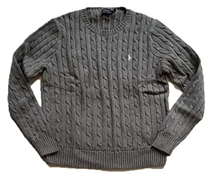 7a36f7613 Ralph Lauren Women s Cable Knit Crew Neck Sweater at Amazon Women s Clothing  store