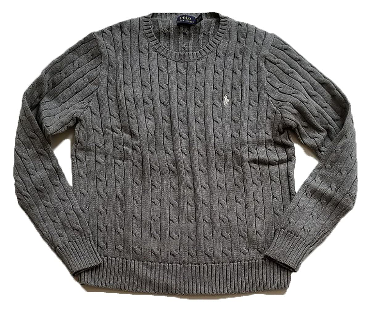 cbf96d01624f62 Ralph Lauren Women s Cable Knit Crew Neck Sweater at Amazon Women s Clothing  store