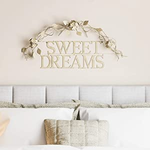 Lavish Home Metal Cutout-Sweet Dreams Wall Sign-3D Word Art Home Accent Decor-Modern Rustic or Vintage Farmhouse Style