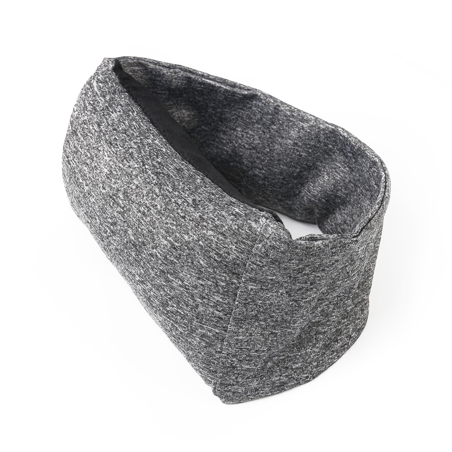 Travel Pillow, 2 in 1 Neck Pillow and Eye Mask, Soft Neck Pillow for Travel, Camping, Business Trip. Comfortable Neck Support for Airplane, Train and Car - Grey