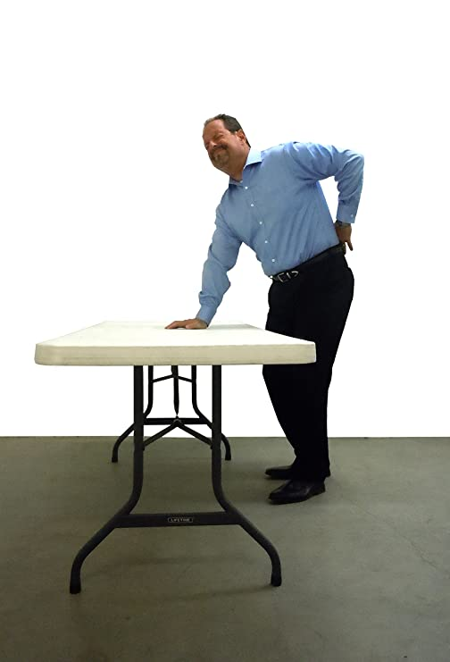 Amazon.com: Lift Your Table Folding Table Risers Extenders   Converts  Folding Tables To Bar/Demo Height Work Surface, Original Re Positionable  Foot, ...