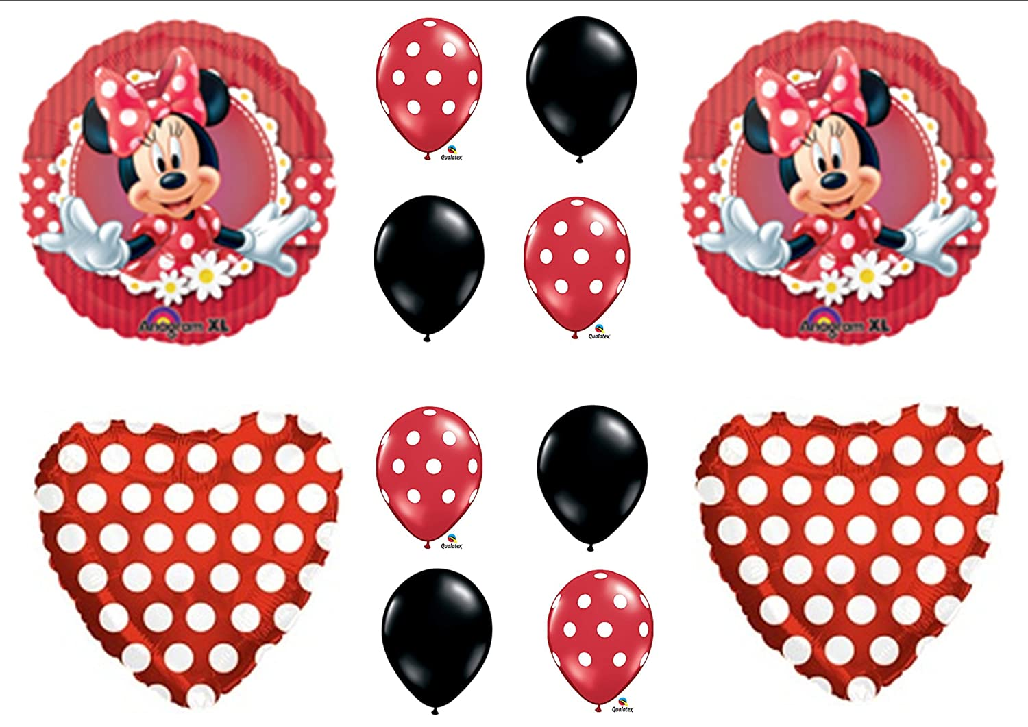 Amazoncom Mad About Minnie Mouse Birthday Party Balloons Toys