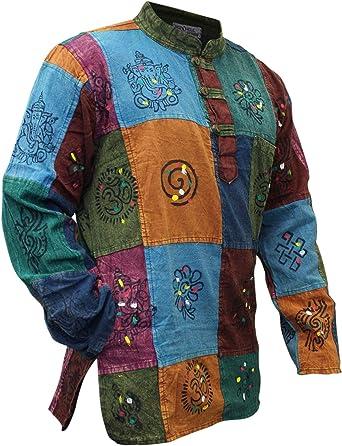 Shopoholic Fashion - Camisa para hombre, diseño ácido multicolor, estilo Hippy multicolor multicolor Medium: Amazon.es: Ropa y accesorios