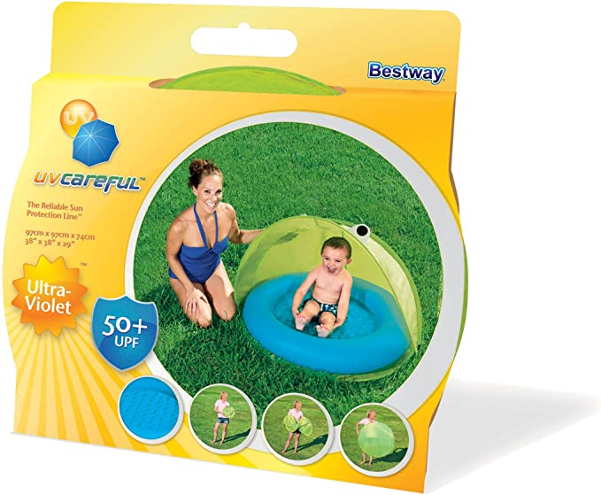 Piscina Hinchable Infantil con Parasol Bestway Twist N Fold 97x97x74 cm , color/modelo surtido: Amazon.es: Juguetes y juegos