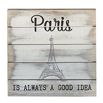 Amazoncom Wall Art Paris Is Always A Good Idea Wood Sign 8