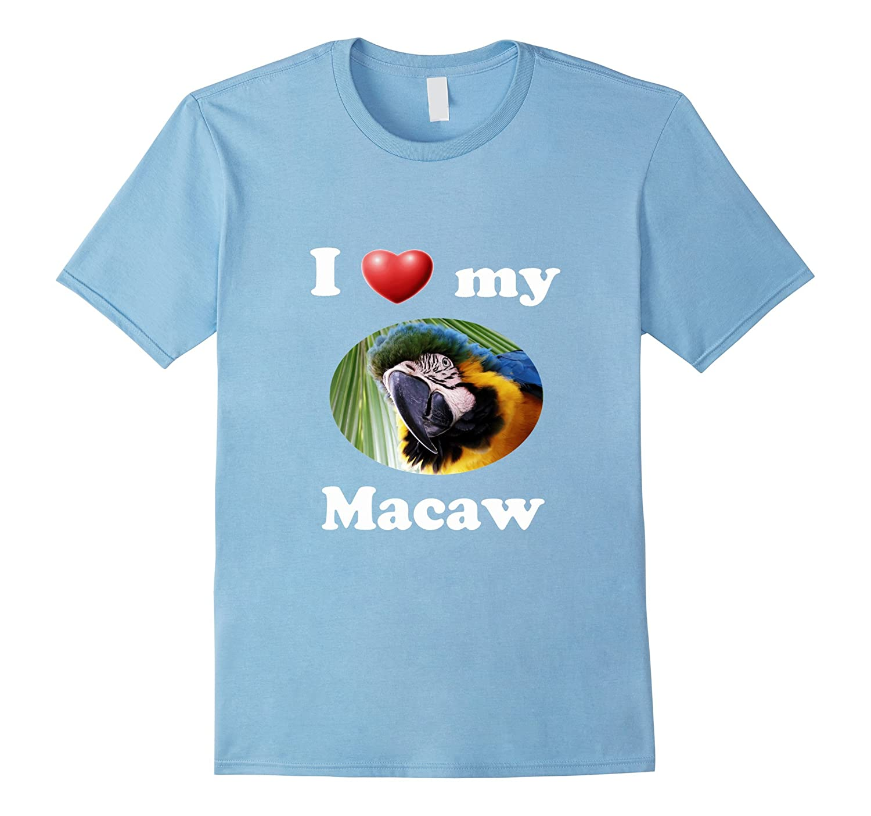 Mens Love My Macaw Asphalt-Awarplus
