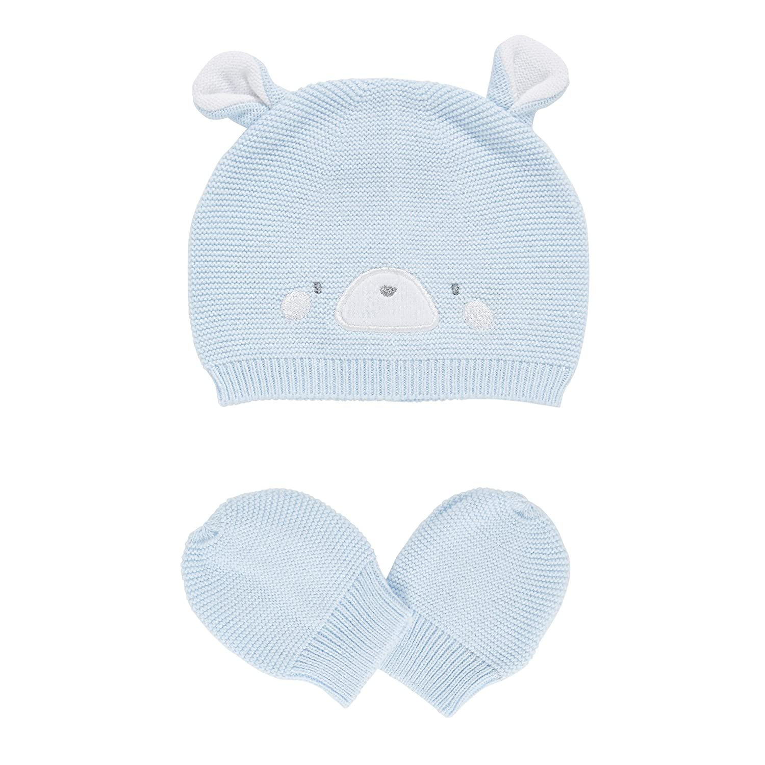 3458f201c Mothercare Baby Boys' True Novelty Purl Knit Hat & Mitts Hat