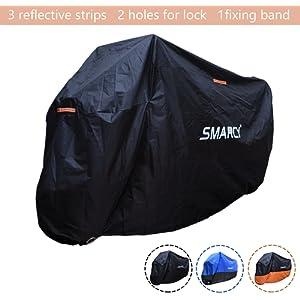 SMARCY® Housse Bâche de Protection pour Moto Scooter Taille XL Couleur Noir