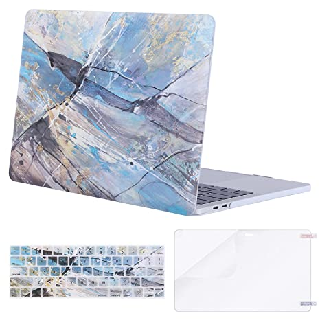 MOSISO MacBook Pro 13 inch Case 2019 2018 2017 2016 Release A2159 A1989 A1706 A1708, Plastic Pattern Hard Shell & Keyboard Cover & Screen Protector ...
