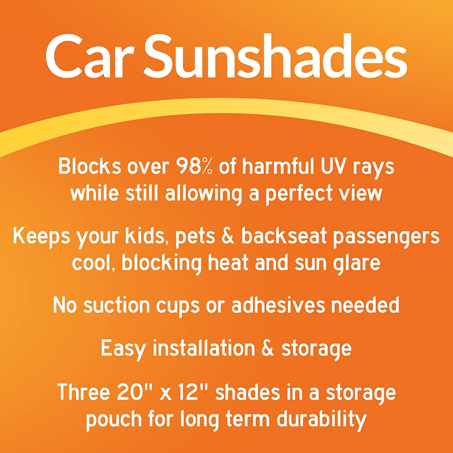 Flexible Keep Kids and Pets Cooler Heat DriveMate Car Sun Shade Side and Rear Window Protectors 3 Pack Glare Quick and Easy Install and Light-Blocking Sunshades