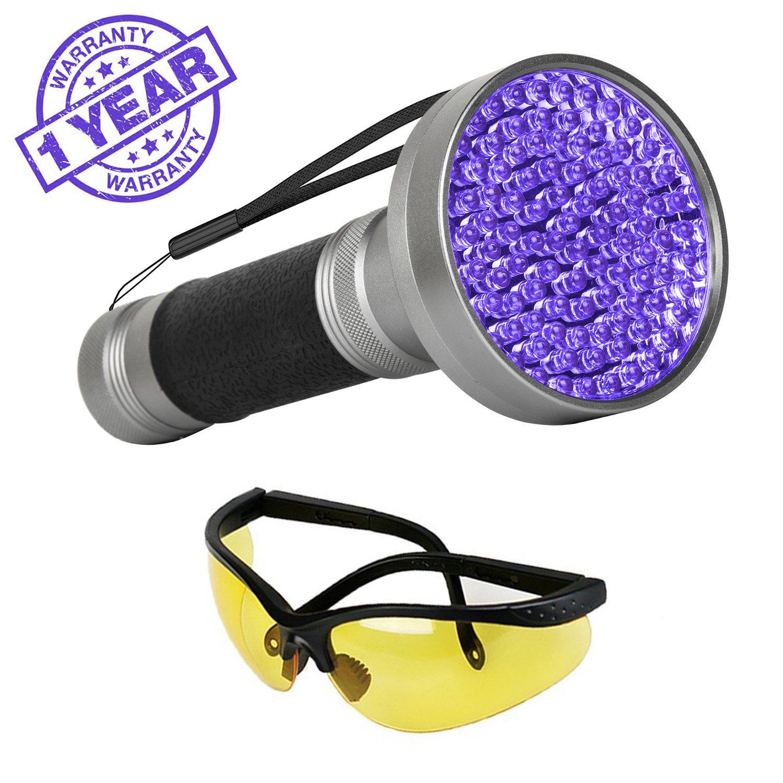 UV Black Light Flashlight, Super Bright 100 LED #1 Best Pet Dog Cat Urine Detector light Flashlight for Urine Stains, 395nm UV Blacklight Flashlight for Bed Bugs Scorpions, Home Hotel Detection