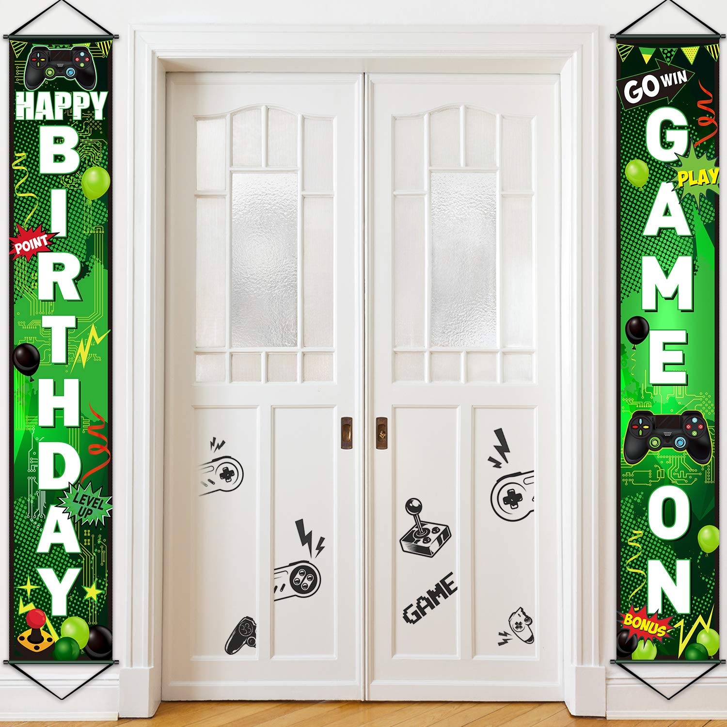 Game Night Party Decorations Personalized Uno Banner Gamer Party Supplies 90s Party Theme Ideas