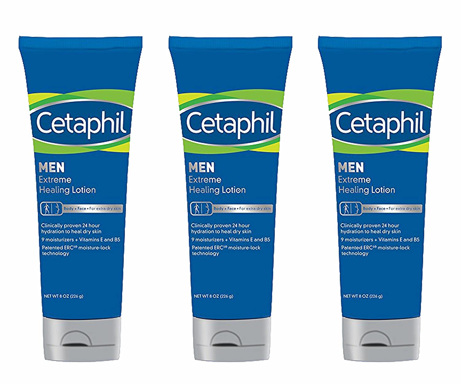 Cetaphil Men Extreme Healing Lotion 8 Ounce Pack Of 3 Moisturizing Cream Face Ampamp Body Beauty