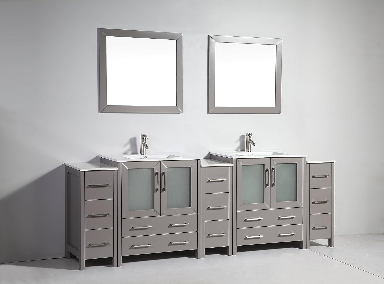 Amazon Com Vanity Art 96 Inch Double Sink Bathroom Vanity Set