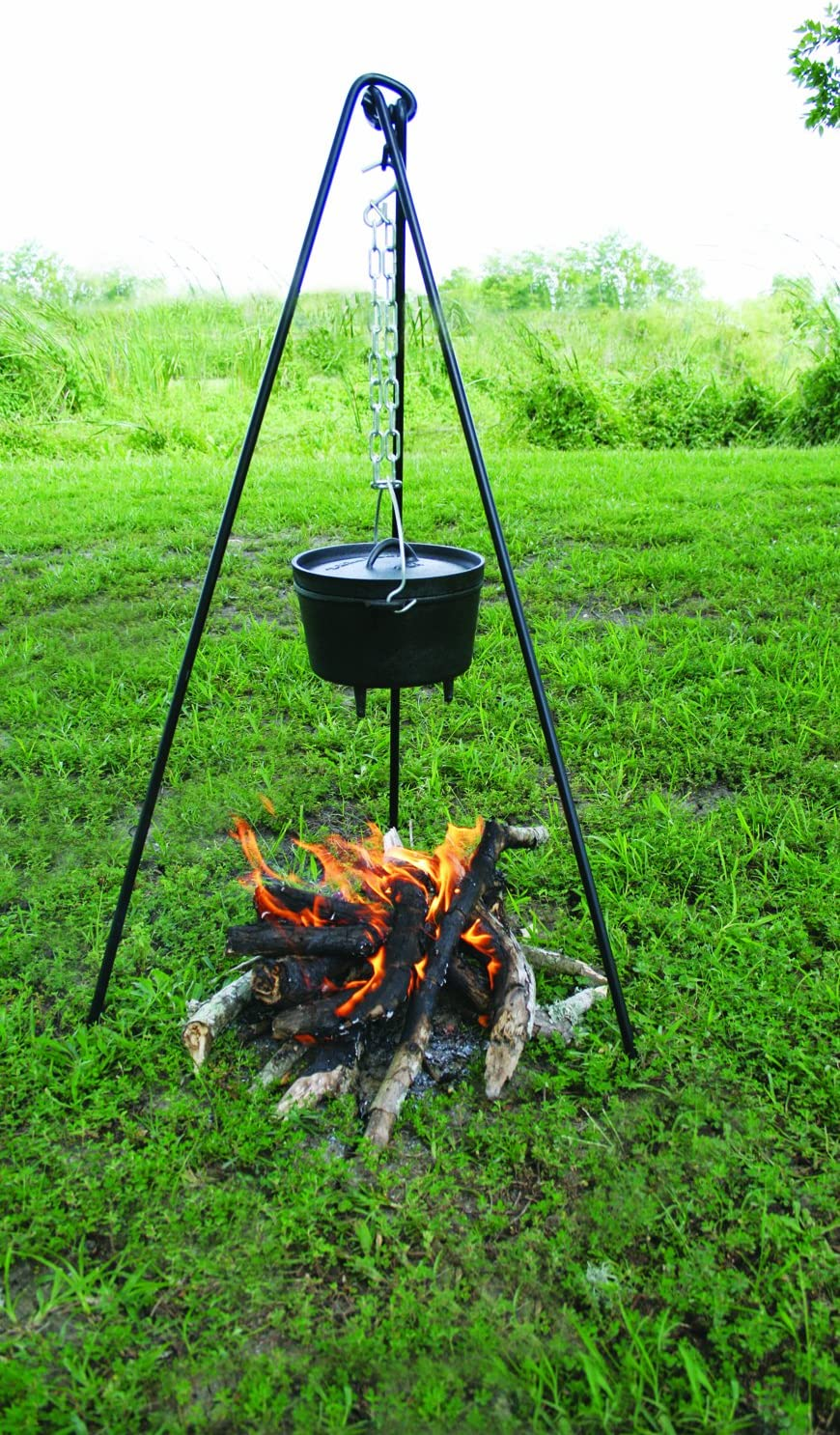 Campfire Cooking Dutch Oven Tripod And Lantern Hanger
