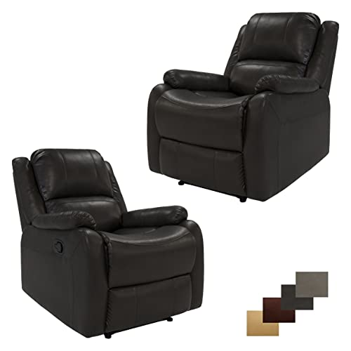 Set of 2 RecPro Charles Collection 30 Zero Wall RV Recliner Wall Hugger Recliner RV Living Room Slideout Chair RV Furniture RV Chair Chestnut