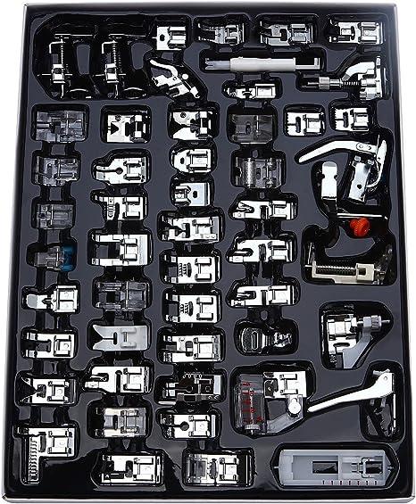 aiskaer profesional 48 pcs máquina de coser juego de pies ...