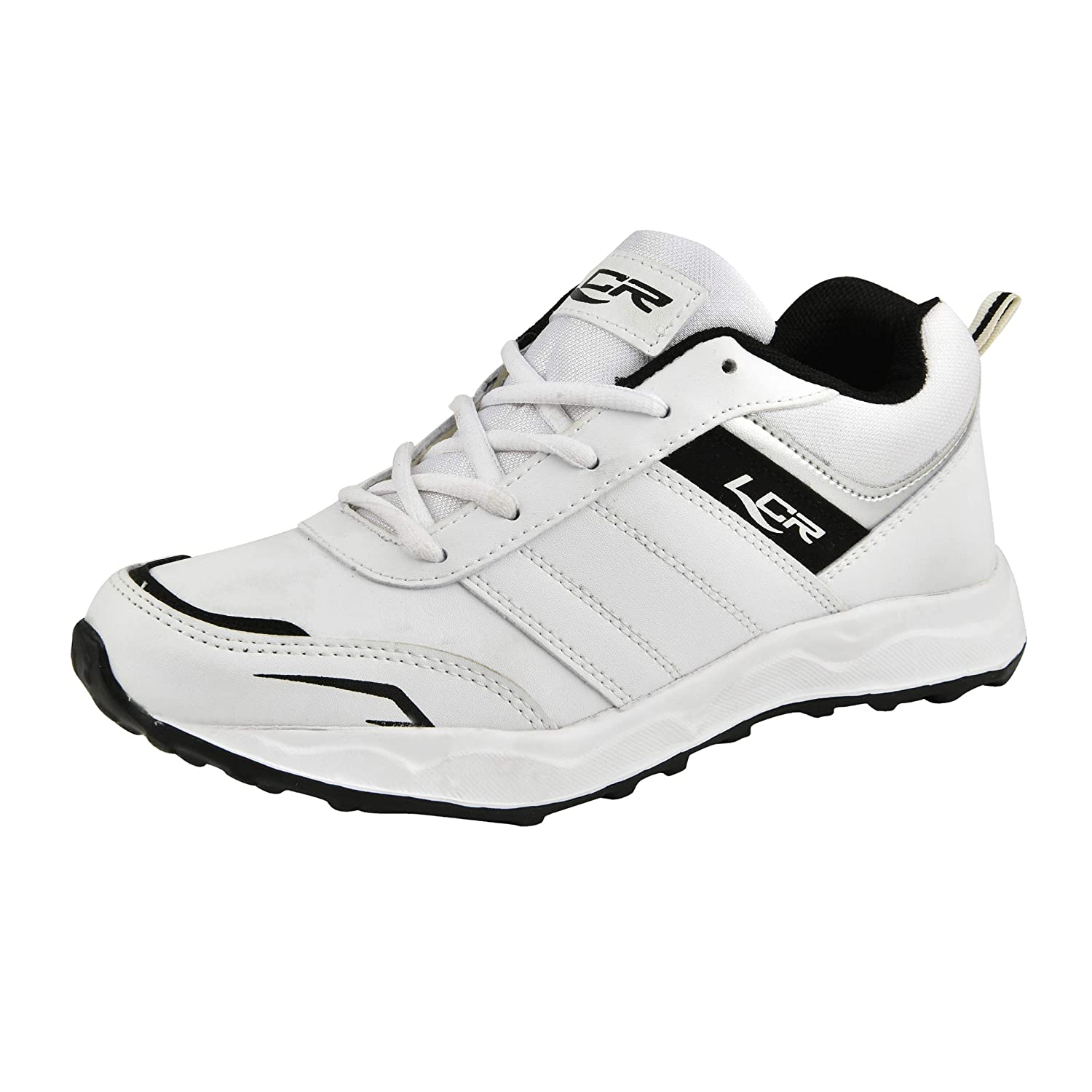 Buy Lancer White Lace-up Sports Shoes