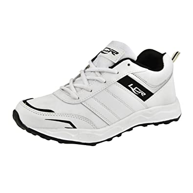 0e3d03f04a8 Lancer White Lace-up Sports Shoes for Men  Buy Online at Low Prices in India  - Amazon.in
