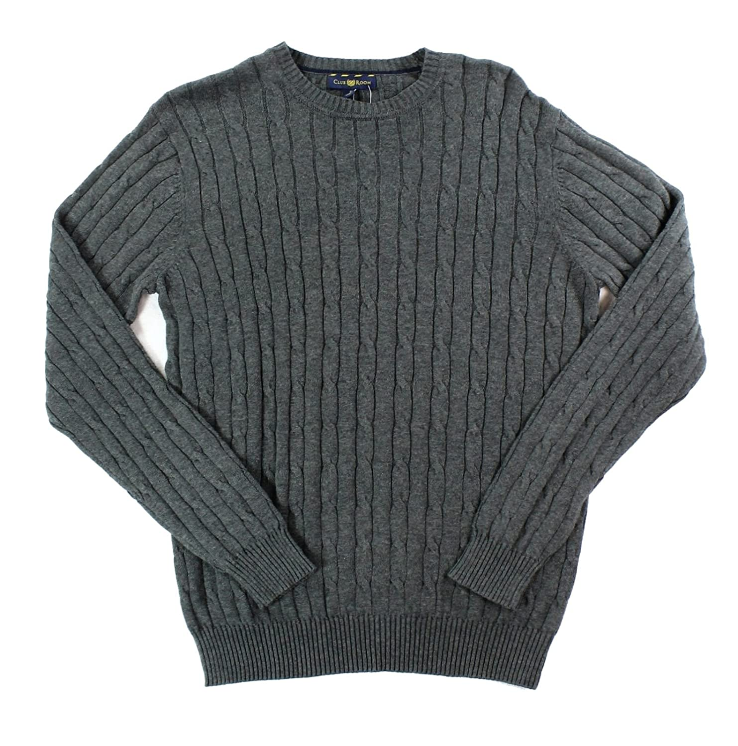 Club Room Mens Cable Knit Crew Neck Pullover Sweater Gray S at Amazon Men s  Clothing store  fcf89ad7d