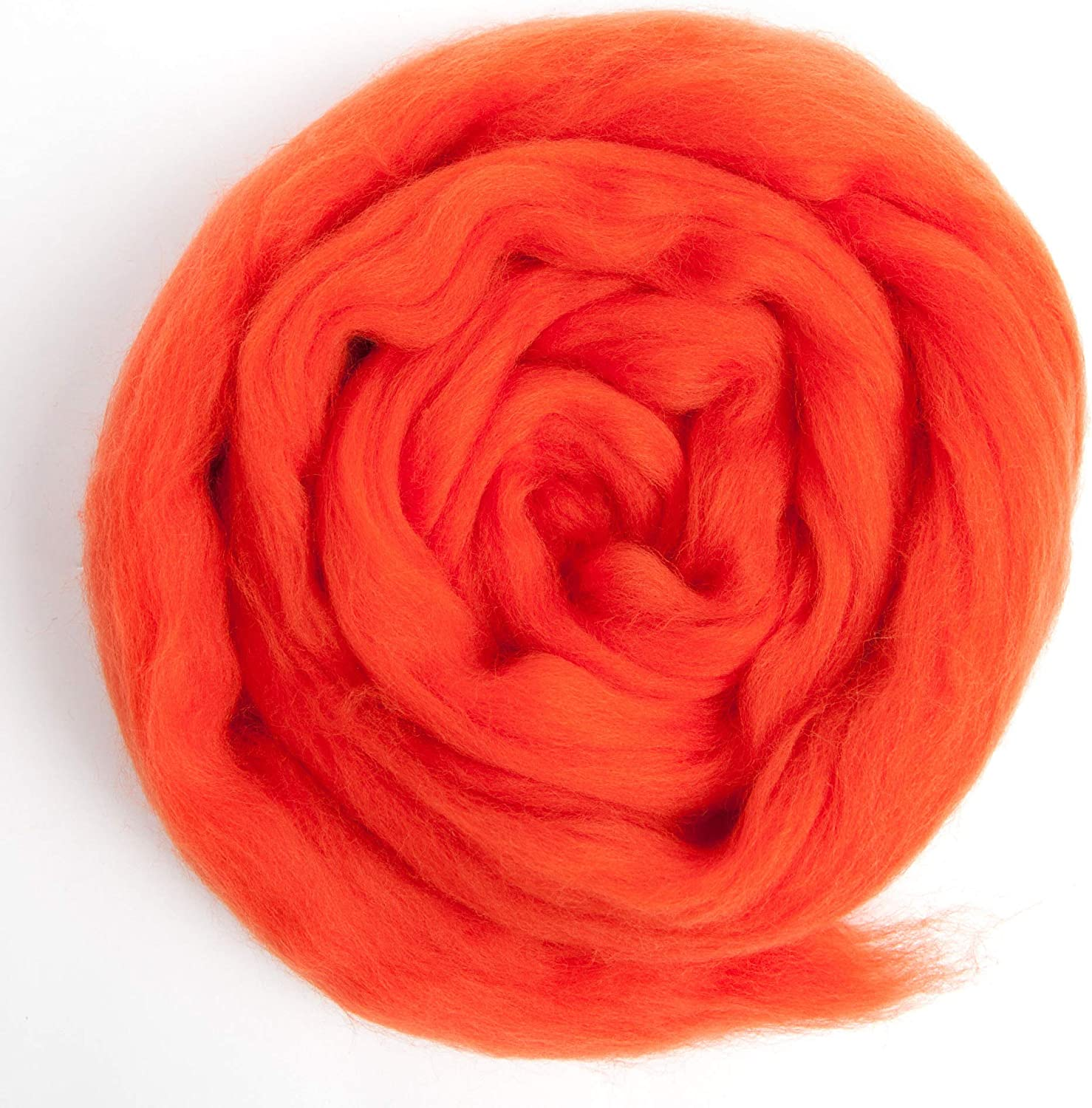 Premium Combed Top Color Yellow 100/% Pure Wool Perfect for Felting Projects Made in The UK Merino Wool Roving 21 Micron