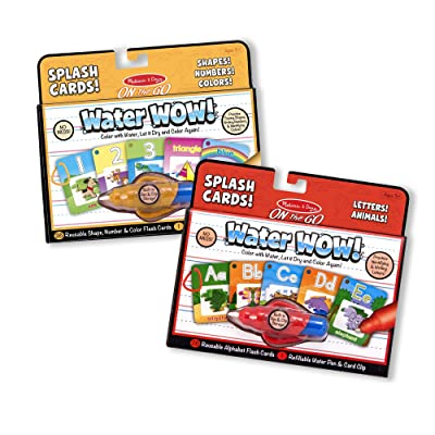 Melissa & Doug Water Wow Splash Cards Bundle - Alphabet and Numbers & Colors: Melissa & Doug: Toys & Games [5Bkhe1002031]
