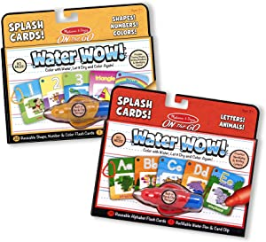 Melissa & Doug Water Wow Splash Cards Bundle - Alphabet and Numbers & Colors